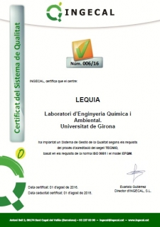 LEQUIA renews its quality certification