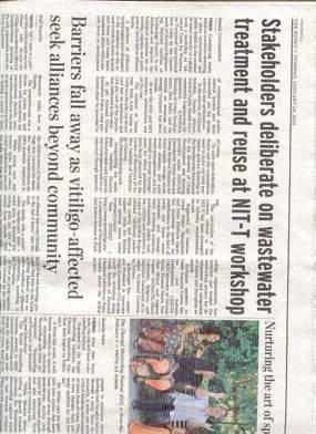 "Newspaper ""The Hindu"" published an article on Atwat project workshop"