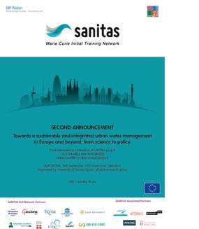 "SANITAS Final Conference ""Towards a sustainable and integrated urban water management in Europe and beyond: from science to policy"""